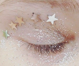 glitter, stars, and eyes image