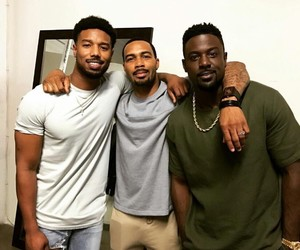 black men and lance gross image