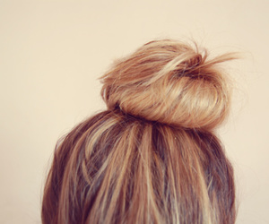 blonde, bun, and delicate image