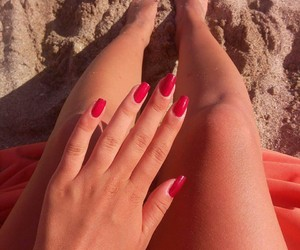 legs, nails, and sand image