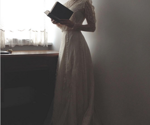 book, vintage, and dress image