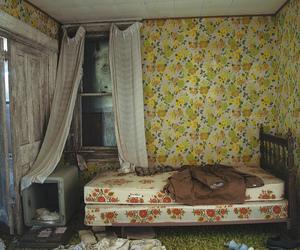 abandoned, bed, and floral image