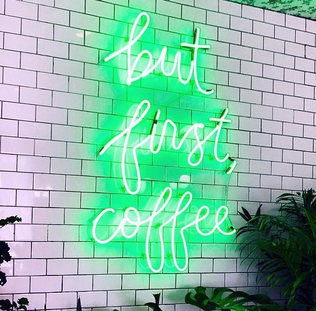 coffee, green, and neon image