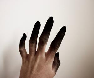 hand, black, and demon image