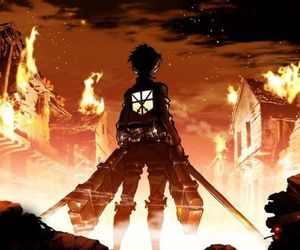 attack on titan, anime, and eren image
