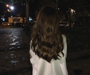 girl, hair, and night image