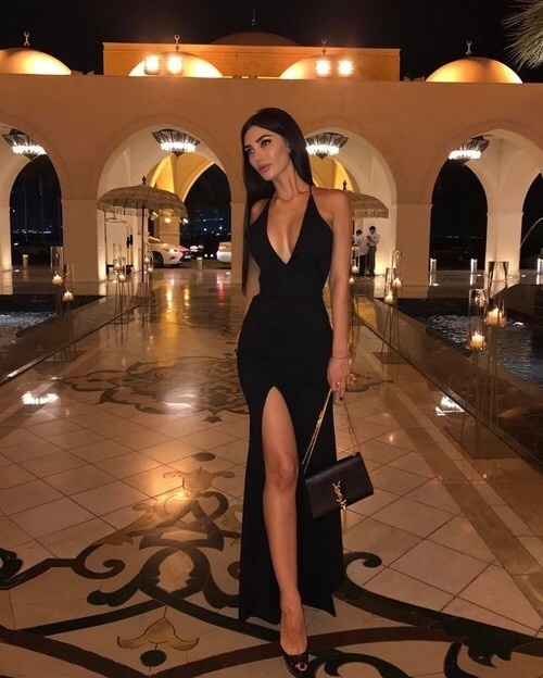 black dress, girl, and luxurious image