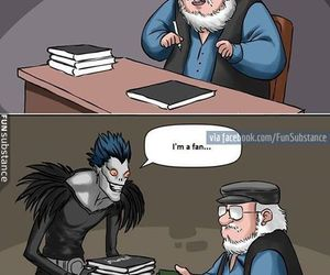 game of thrones, death note, and funny image