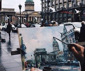beauty, paint, and rainy image