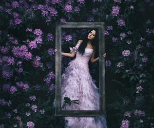 flowers, dress, and photography image