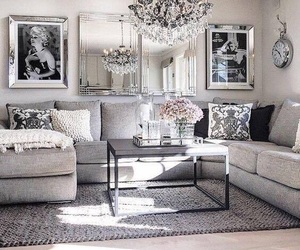home, decor, and grey image
