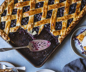 blueberry, pie, and desserts image