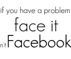 text, facebook, and problem image