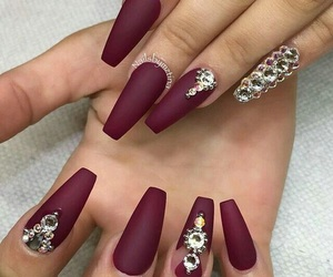 beautiful, long, and burgundy image