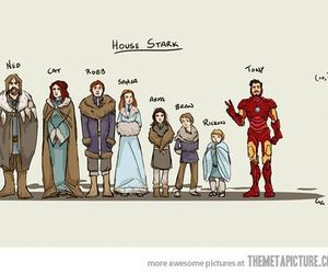 stark, funny, and game of thrones image