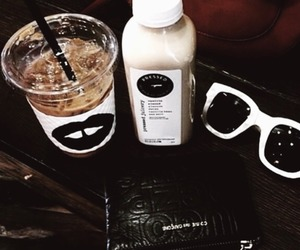 brown, coffee, and sunglasses image