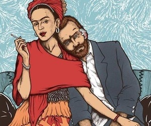 art, frida kahlo, and van gogh image