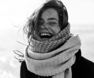 black and white, laugh, and smile image