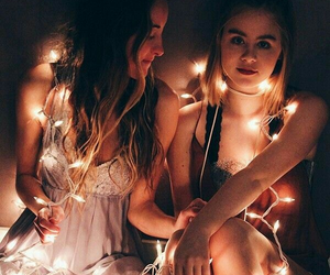 light, friends, and friendship image