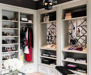 clothes, wardrobe, and walk in closet image