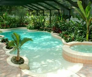 home, pool, and gardenhouse image