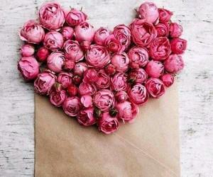 flores, rosas, and corazón image