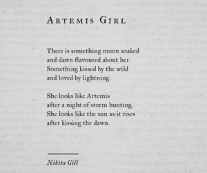 artemis, poem, and poetry image