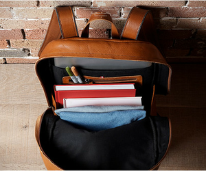 school, backpack, and books image