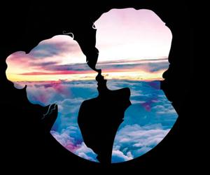 casal, desenho, and nuvens image