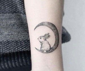 tattoo and rabbit image