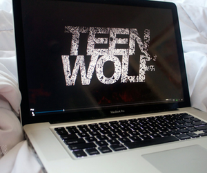 teen wolf, laptop, and series image