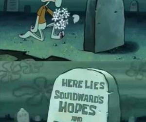 sponge bob square pants, squidward, and شفيق image