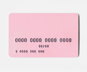 pink and card image