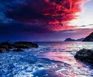 sky, nature, and sea image