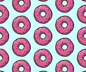donut, kawaii, and fundos image