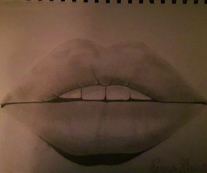 amour, bouche, and draw image