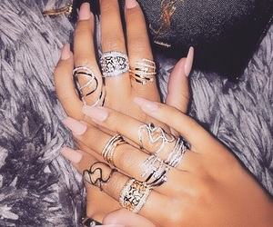 aesthetic, luxury, and nail art image