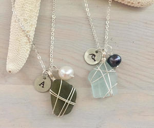 etsy, wire wrapped, and wrapped sea glass image
