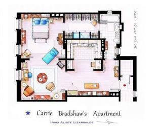 apartment, Carrie Bradshaw, and sex and the city image