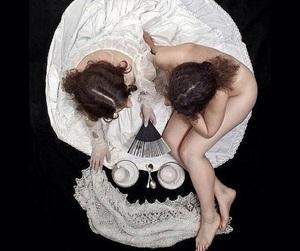skull, art, and tea image