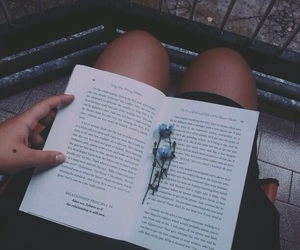 book, flowers, and grunge image