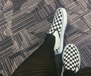 fishnets, vans, and shoes image