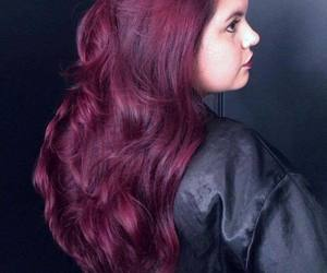 beautiful, marsala, and hair image
