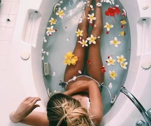 flowers, relaxing, and spa image