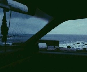 car, grunge, and sea image