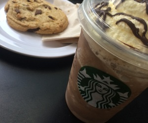 coffee, foodporn, and cookie image