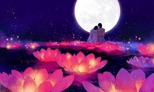 love, moon, and anime image