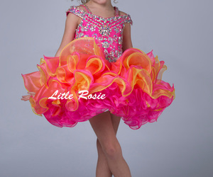 darling, sissy, and frilly pink pageant dress image