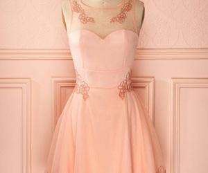 rosa, vestido, and corazón image