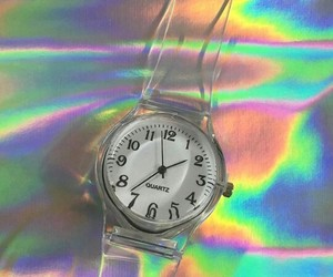 holographic, rainbow, and cute image